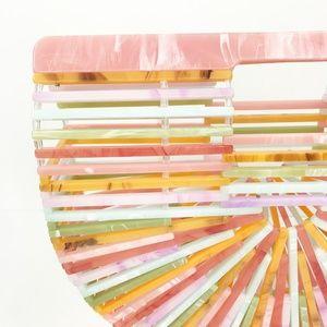 CLOSET REHAB Bags - Acrylic Arc Handbag in Pastel